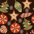 Christmas seamless pattern 3