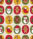 Christmas seamless pattern with retro colors Stock Images