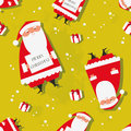 Christmas seamless pattern santa claus background Royalty Free Stock Image