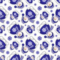 Christmas seamless pattern seasonal with cute snowmen Stock Image