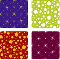 Christmas seamless pattern seasonal with shining stars Royalty Free Stock Photos