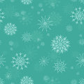 Christmas seamless pattern snowflakes blue background Royalty Free Stock Images