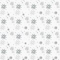 Christmas seamless pattern with snowflakes white background eps 10