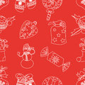 Christmas seamless pattern vector this is file of eps format Royalty Free Stock Photos