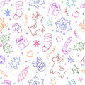 Christmas seamless pattern on white background Royalty Free Stock Images