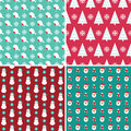 Christmas seamless patterns Royalty Free Stock Photos