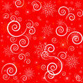 Christmas seamless red pattern Royalty Free Stock Photo