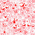Christmas seamless swirl pattern Royalty Free Stock Photo