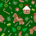 Christmas seamless texture with gingerbread Royalty Free Stock Photos