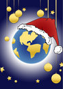 Christmas series - globe Stock Photography