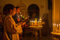 Christmas service and the vigil on Feast of the Nativity of Christ (Russian Orthodox Church) Royalty Free Stock Photo