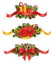 Christmas set of banners Royalty Free Stock Photo