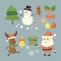 Christmas set collection on holiday Royalty Free Stock Images