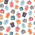 Christmas set of cute elements, vector illustration Royalty Free Stock Photo