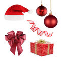 Christmas set of different objects Royalty Free Stock Photography