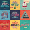 Christmas set emblems and other decorative elements Royalty Free Stock Photo