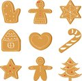 Christmas set of ginger bread, holiday cookie