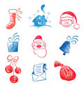 Christmas set of graphic images Royalty Free Stock Image