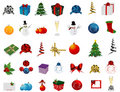 Christmas Set of icons Stock Photo
