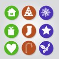 Christmas set icons vector illustration Stock Images