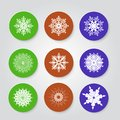 Christmas set icons vector illustration Royalty Free Stock Image