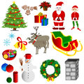 Christmas set illustration of with white background Stock Photos