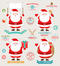 Christmas set - Santa Claus Stock Image