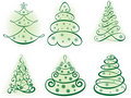 Christmas set tree. Elements for design Stock Image