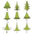 Christmas set trees 图库摄影