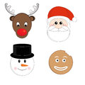 Christmas set vector illustration characters Stock Image