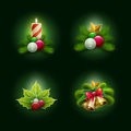 Christmas set vector illustration of objects vector ornament object Stock Photos