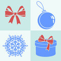 Christmas set vector silhouettes Stock Photography
