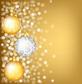Christmas shiny card with bauble Royalty Free Stock Photos