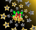 Christmas shooting stars background  Stock Photos