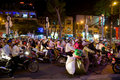 Christmas shoppers in Vietnam Royalty Free Stock Images