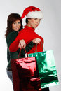 Christmas shopping Stock Photography