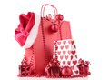 Christmas shopping bag Stock Image