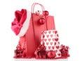 Christmas shopping bag Stock Image