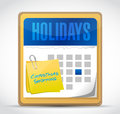 Christmas shopping date marked on the calendar illustration design Stock Photography