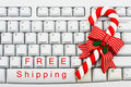 Christmas Shopping on the Internet Stock Image
