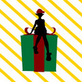 Christmas Shopping Silhouette Illustration Royalty Free Stock Photos