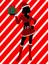 Christmas Shopping Silhouette Illustration Royalty Free Stock Photography