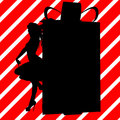 Christmas Shopping Silhouette Illustration Stock Images