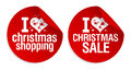 Christmas shopping stickers. Stock Images