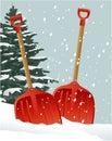 Christmas shovels Royalty Free Stock Photo