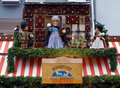 Christmas signboard with dolls in Nuremberg Royalty Free Stock Images