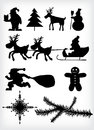 Christmas silhouette Stock Photo
