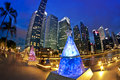 Christmas in Singapore Royalty Free Stock Images