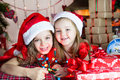 Christmas sisters Royalty Free Stock Images