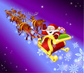 Christmas sled Royalty Free Stock Image